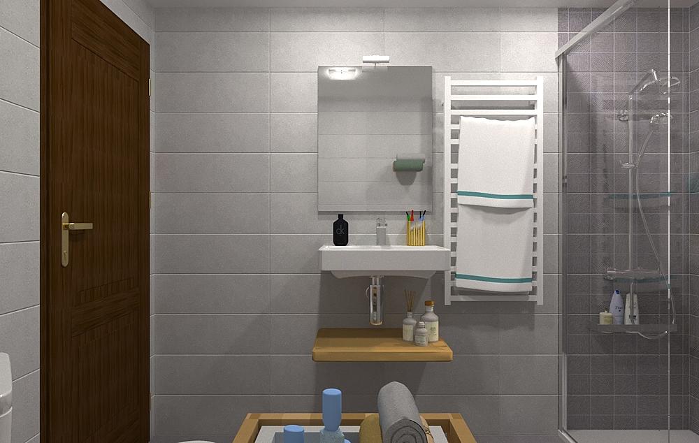 RICARDO SANCHEZ 3-BAÑO 2-... Modern Bathroom María Vázquez Barros