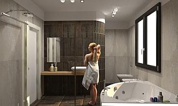 ZACCAGNINI PATRONALE DEFI... Contemporary Bathroom Tre P Ceramiche Team Designer Group