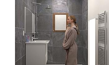 Salle de bain - Douche à ... Clasico Baño Amess GABY
