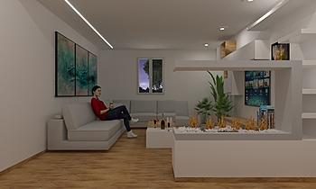 LIVING 4_ NC Modern Living room Guglielmo Puglisi