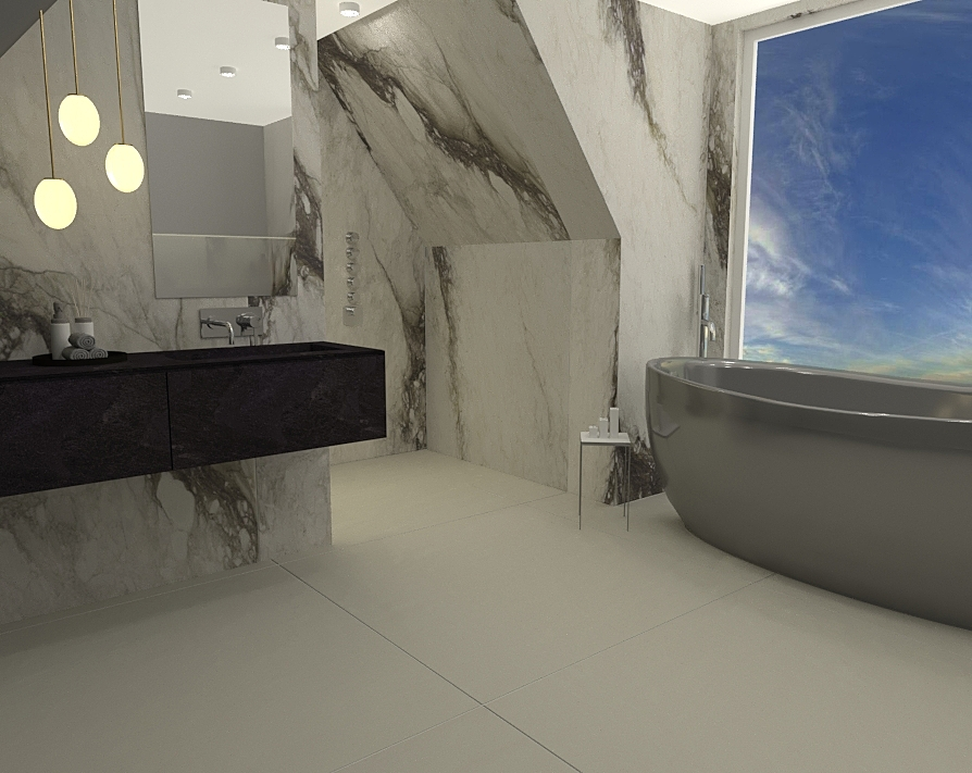 Uyen Bathroom Modern Bathroom Ferreira's Architectural Surfaces