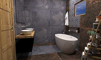 Aparici - Corten Graphite... Klasszikus Fürdőszoba Terrakotta  Csempecentrum