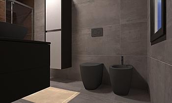 Interno 9 bagno padronale... Contemporáneo Baño ROBERTO CAPACCHIONE