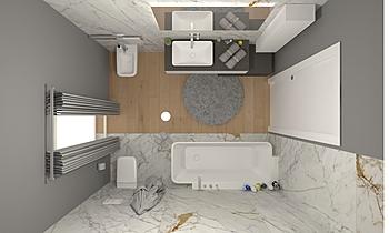 bagno padronale Modern Fürdőszoba GREGOLO SRL