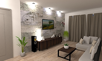 parete giorno Ferrucci Classic Living room Big Mat Fabio Sbaffi