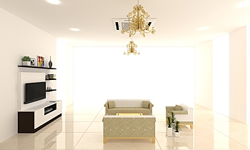 living room 1st floor fin... Clássico Sala de estar Mandar Patange