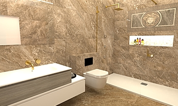 56 Wolsey Road Clássico Casa de banho  Ferreira's Architectural Surfaces