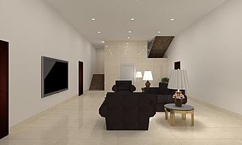 Lobby gf WITH LIVING ROOM... Clássico Sala de estar Mandar Patange
