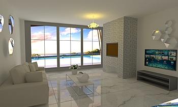 living room Clássico Sala de estar F.LLICAMASTRA SNC
