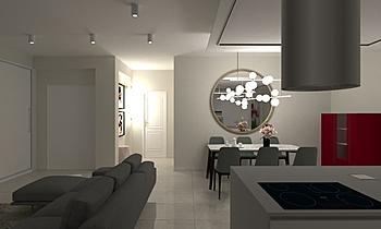 Living-Mansarda Contemporâneo Sala de estar Raffaele  Natale