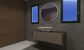 Bagno Fusion Modern Bathroom ROBERTO CAPACCHIONE