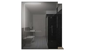 BAGNO piano 1°_CROSSOVER ... Modern Bathroom GUIDO SOFFRITTI