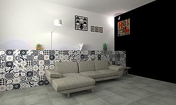BOZZETTO BLEND+ B&W3 Eclético Sala de estar Gianfranco Di Nicola