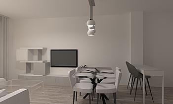 Salón comedor 3L. Margari... Classic Living room Orballo Decoración