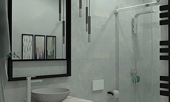 Baño B Contemporary Bathroom Aurum  Construcciones