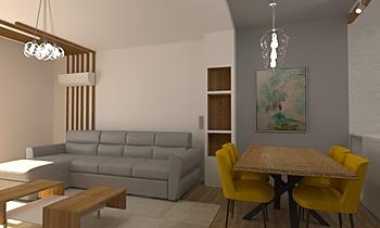 Living room Iva Współczesne Pokój dzienny Iliana Ovtcharova
