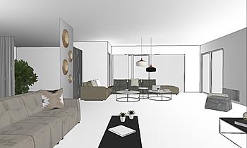 VILLA 111 Classic Living room Omar HADDI