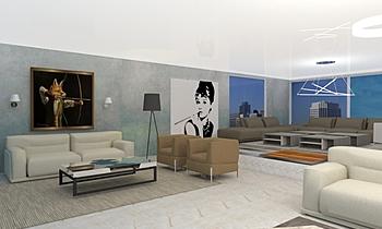 Villa KACEM BIOUI Classic Living room Omar HADDI