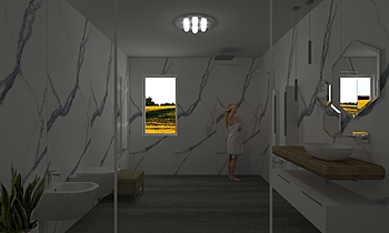 Bagno Laminam rendering n... Modern Bathroom Simone Cocquio
