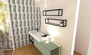 Area 1 Cascone showroom Modern Bathroom Agenzia UNICA