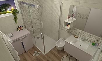 Kopalnica prenova APE Cre... Modern Bathroom Primož Njegač