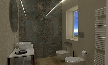 bagno proncipale Contemporary Bathroom Lo Presti casa arredo