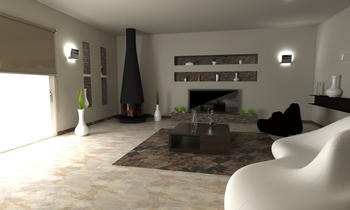 Ardesia Almond + Natural Classic Living room Gayafores Porcelain Tiles
