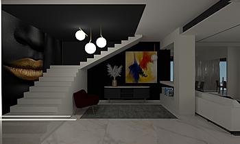 LIVING-INGRESSO-CUCINA Contemporary Living room Raffaele  Natale