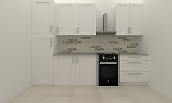 cucina bianco+quarzite Clássico Cozinha SERENA POLPINI