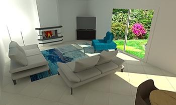 BENNATAN Modern Living room LIVING STORE  NANTES