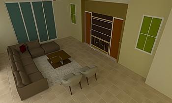 Ahmed Family Room Klasyczne Pokój dzienny Shar Smith