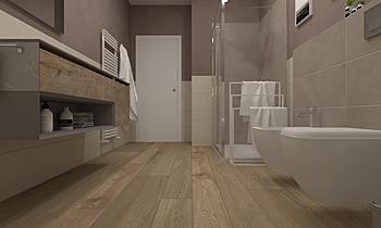 >Bagno Zona Giorno Классический Ванная Francesco Piovan