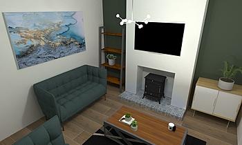 Living room Klasyczne Pokój dzienny Melissa  Bradley
