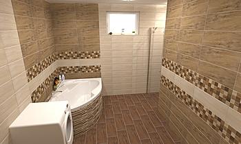 OH - Amazonas Klasszikus Fürdőszoba Terrakotta  Csempecentrum