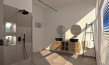 Jill Drabbe badkamer Klasický Koupelna Patrick van der Meer