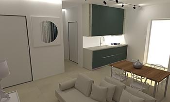 soggiorno apartment B Moderno Sala Lo Presti casa arredo