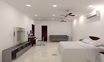 master bedroom 1ST FLOOR ... Classic Living room Mandar Patange