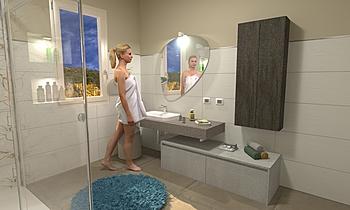 Vanity bagno Klasický Koupelna Secci Casa