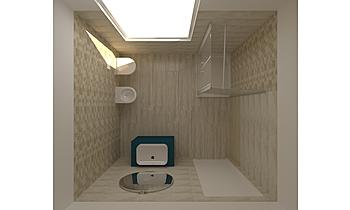 BAGNO METAL_vers.BEIGE Contemporary Bathroom GUIDO SOFFRITTI