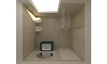 BAGNO METAL_vers.GRIGIO Modern Bathroom GUIDO SOFFRITTI