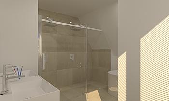 verboon masterbathroom Bl... Clássico Casa de banho  Patrick van der Meer