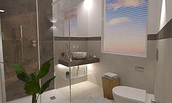 MARAZZI LANGASCO Moderní Koupelna Ceramiche Masala sas