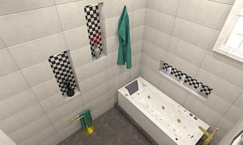 ahmed bath zzzzz Moderno Banheiro ahmed gharib