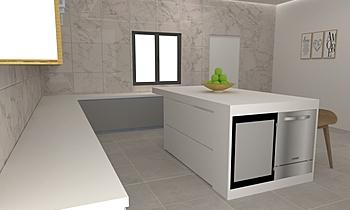 Hazimin-Kitchen Clasic Bucătărie Feruni Ceramiche Sdn Bhd frspj