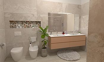 Bagno grande Moderní Koupelna GREGOLO SRL