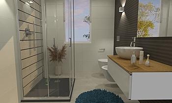 MURA BAGNO PIANO TERRA Modern Bathroom Ceramiche Masala sas