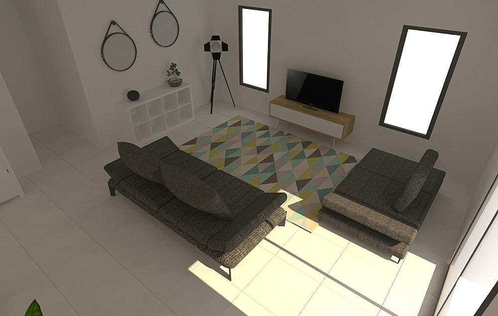 DE OLIVEIRA Modern Living room LIVING STORE NANTES