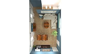 SOGGIORNO Vintage Living room Francesca e Andrea Des Design