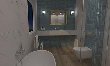 łazienka duża Moderní Koupelna Karol Płotka