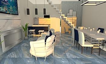 Sioux 100x100 Moderní Obývací pokoj Marietta Sulyok